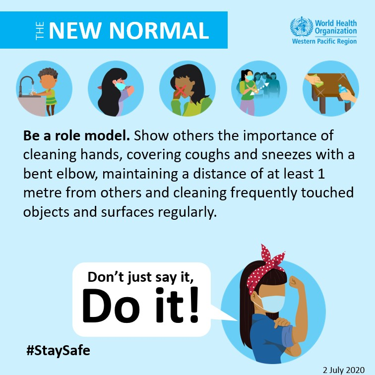 Be a role model. - WHO Western Pacific Region