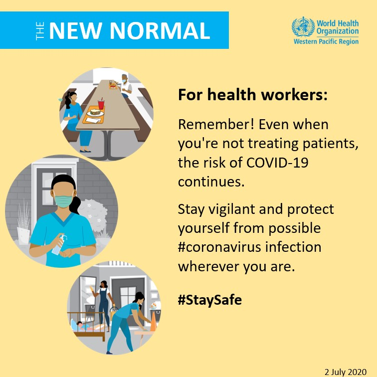 Stay vigilant and protect yourself from possible #coronavirus infection wherever you are. - WHO Western Pacific Region