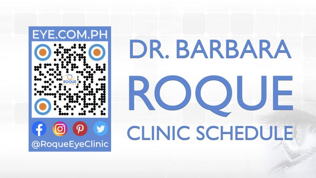 REC QR 2021 16x9 Dr Barbara Roque Clinic Schedule