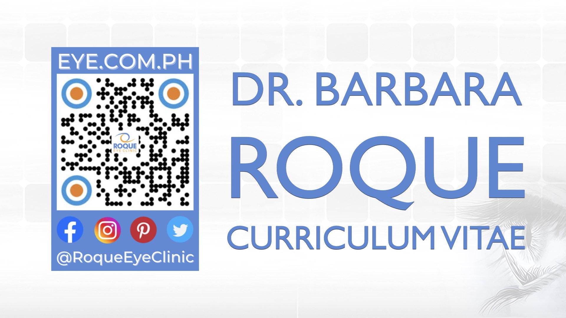 REC QR 2021 16x9 Dr Barbara Roque Curriculum Vitae