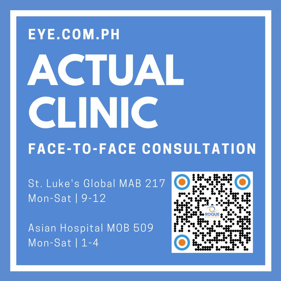 ACTUAL CLINIC Face-to-Face Consultation